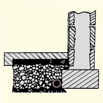 drain to sump pump